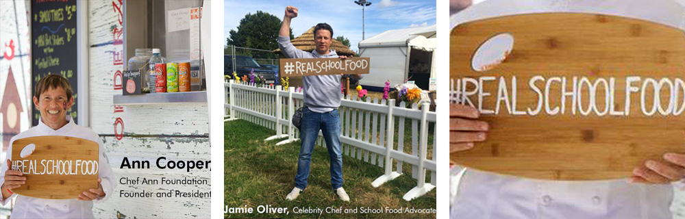 Chef Ann Cooper and Jamie Oliver