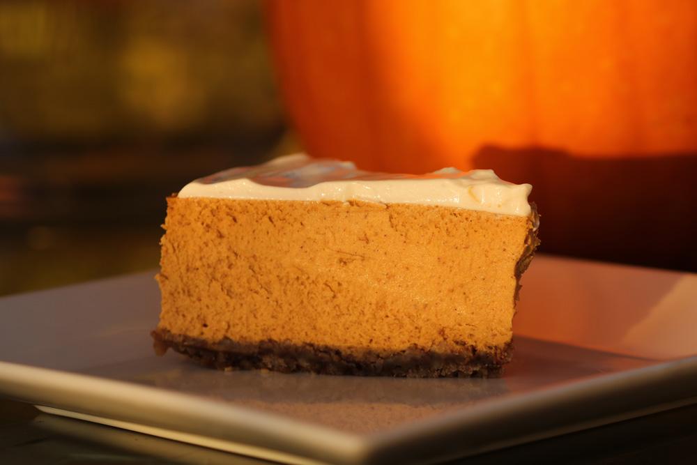 Pumpkin ginger cheesecake