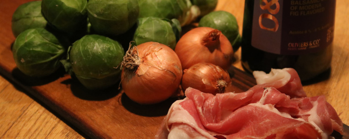 Roasted Sprouts with Prosciutto
