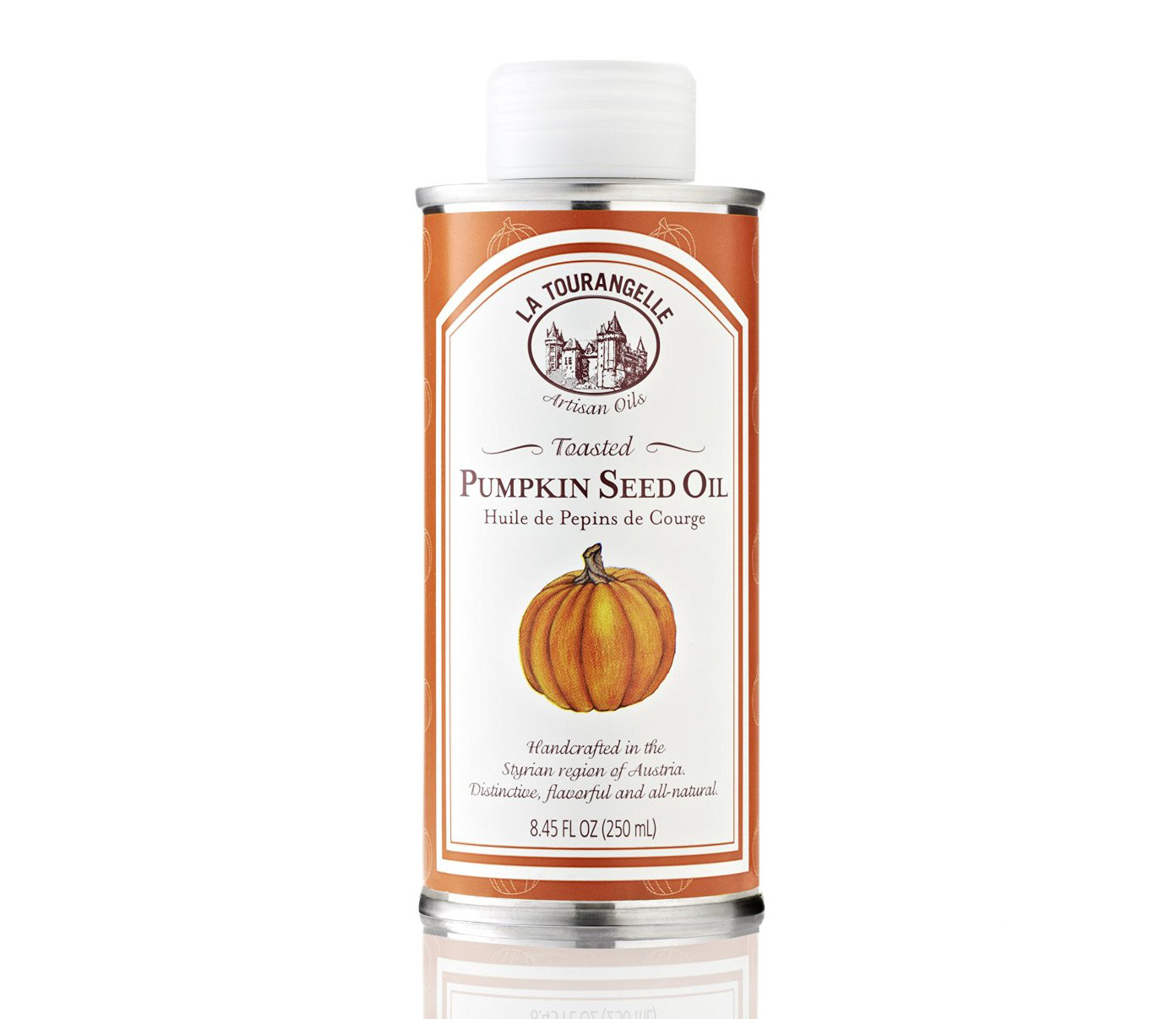 Can of La Tourangelle Toasted Pumpkin seed oil