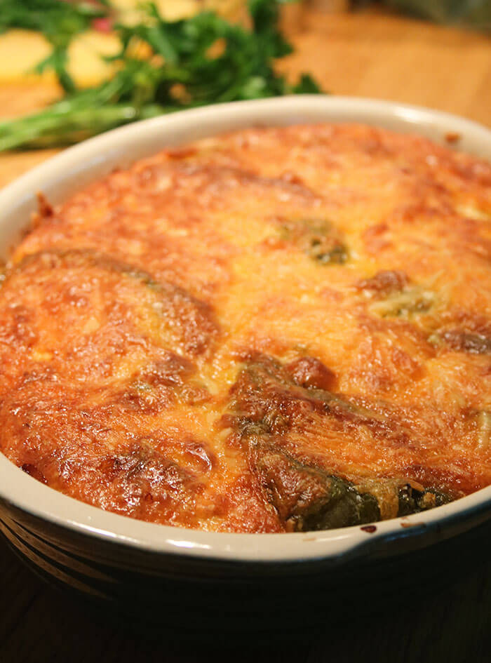 Roasted Poblano Strata