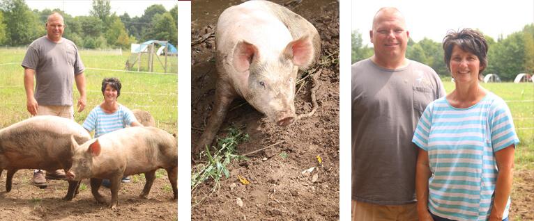 Tracy, Brad and Petunia