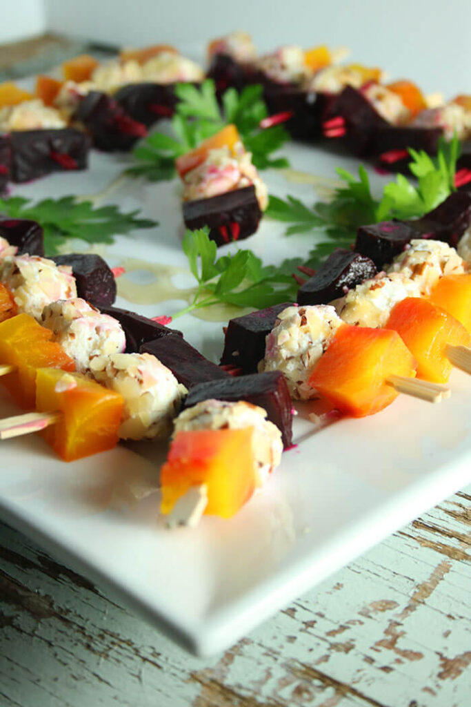 Roasted Beets with Nutty Goat Cheese
