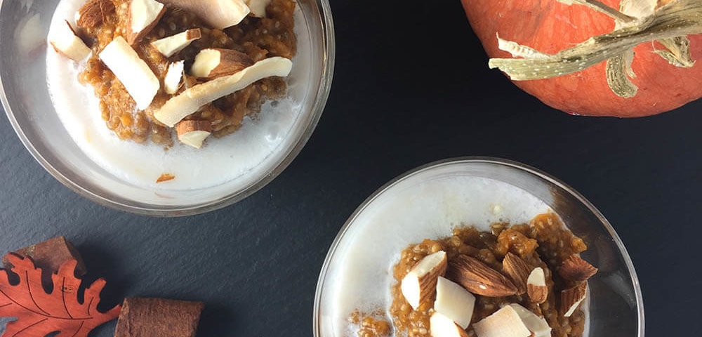 Pumpkin Chia Pudding - Chopped Almonds & Toasted Coconut