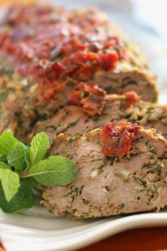 Table Ready - My Big Fat Greek Meatloaf