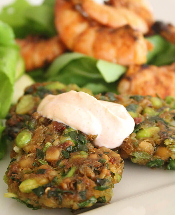 Spring has Sprung: Edamame and Chickpea Fritters - Katy ...