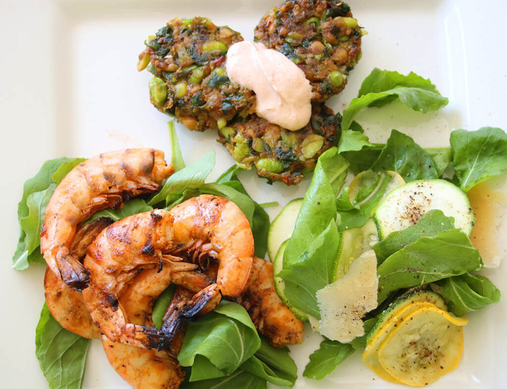 Fritters with S&P shrimp