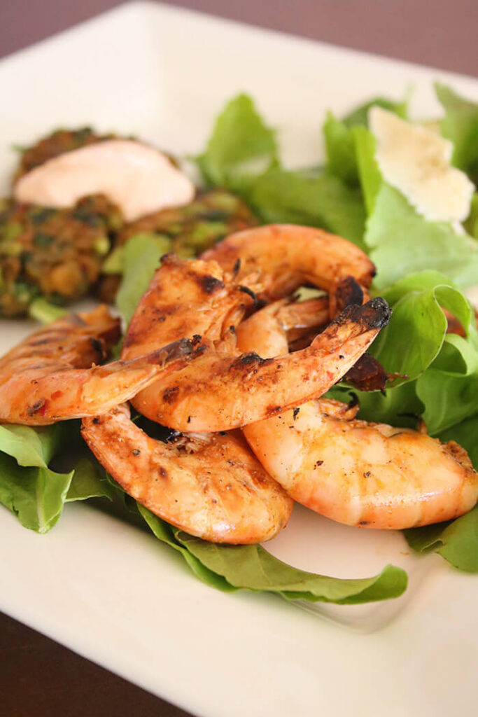 Salt and Pepper Grilled Shrimp