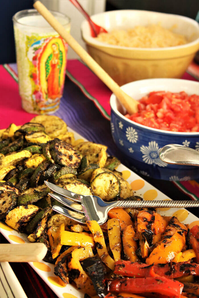 Grilled Veg in Salsa Verde