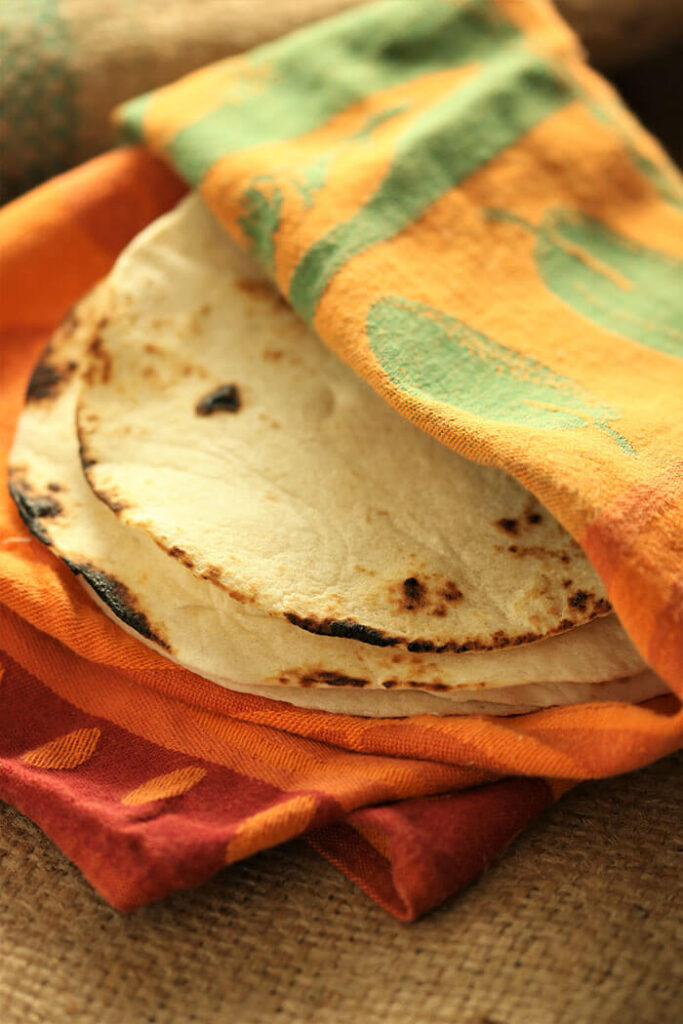 Grilled tortillas