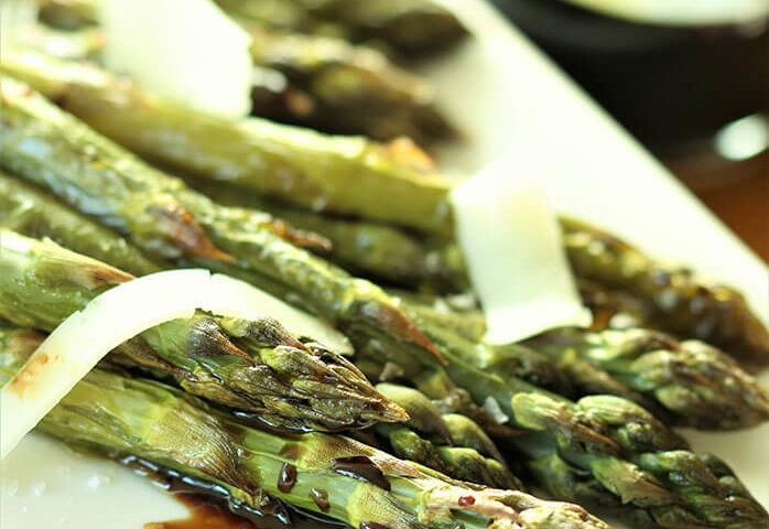 Roasted Asparagus with Balsamic and Manchego
