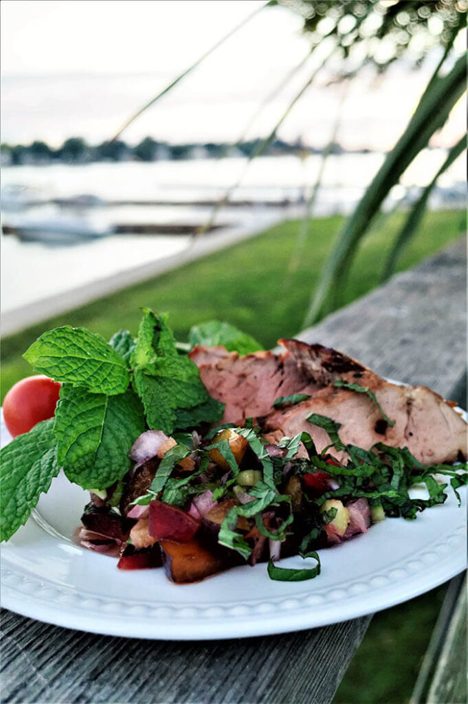 Asian Marinated Pork Tenderloin and Ginger Plum Salsa