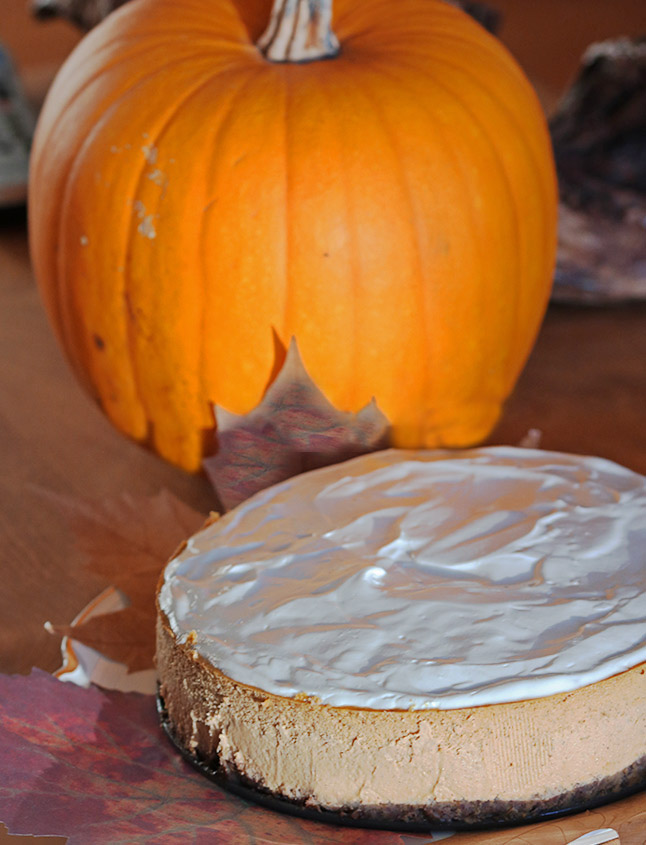 Gentleman Jack kicks up this ginger pumpkin cheesecake a full notch!