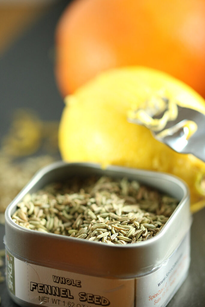 Fennel seeds and citrus
