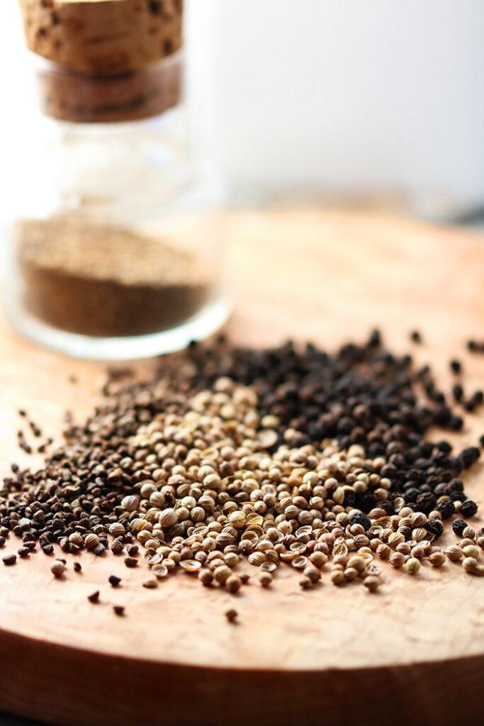 Pepper, Coriander, Cardamom