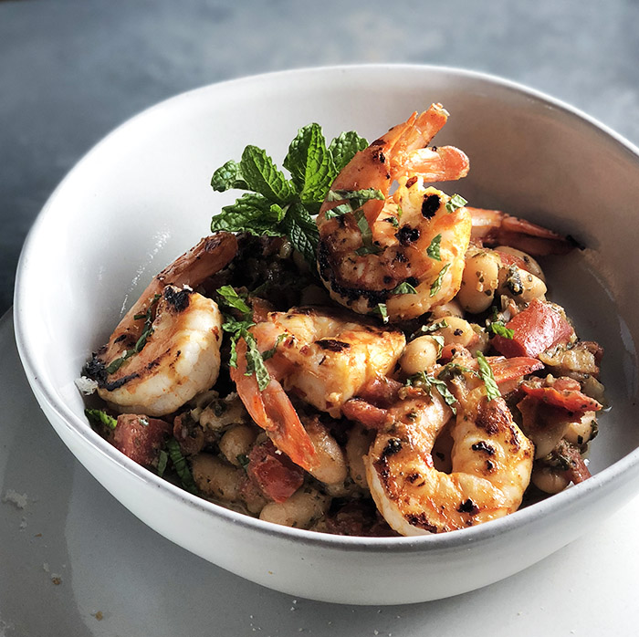 Herby Shrimp & White Beans