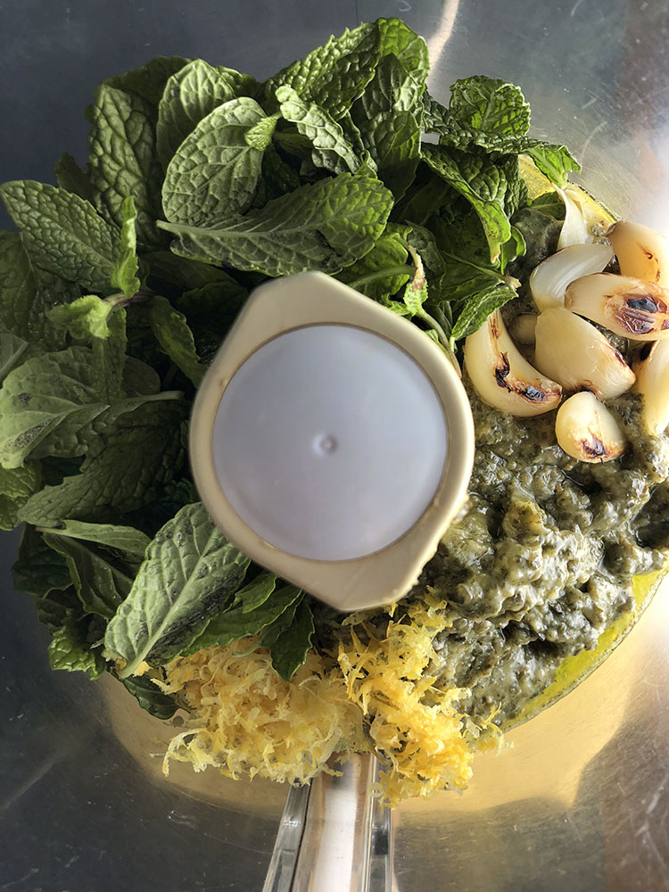 oast Garlic and Mint Pesto