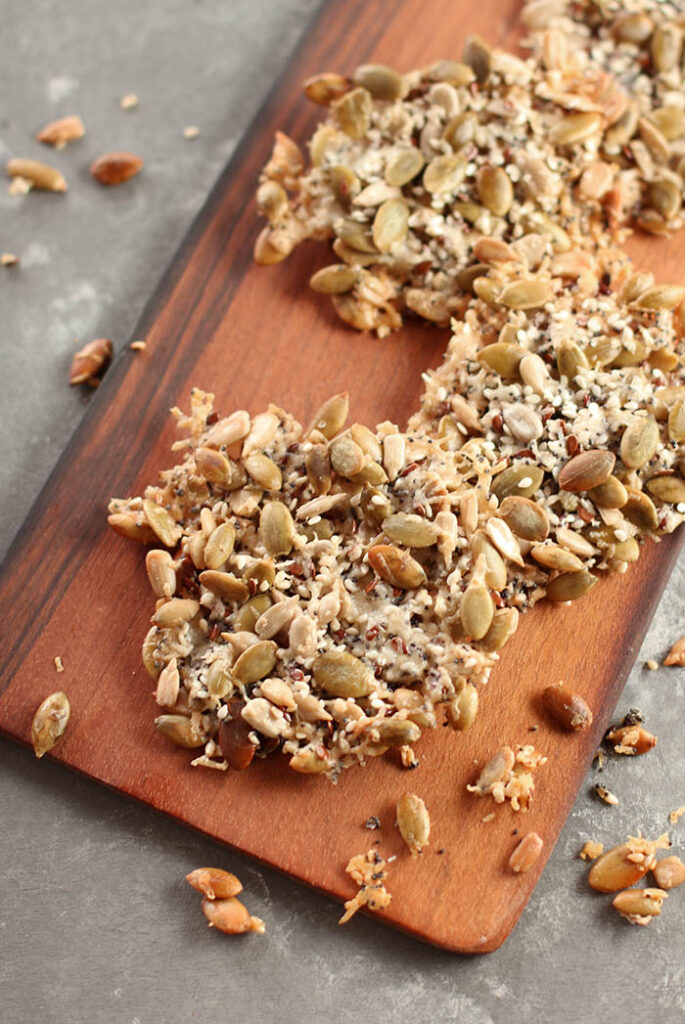 Cheese Crisp Chock Full of Seeds