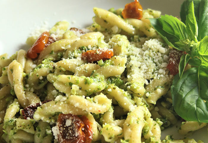 Drool-Worthy Scape Pesto Pasta