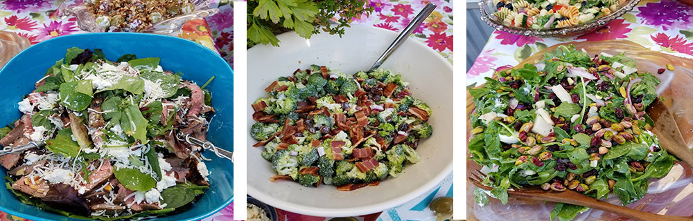 Salads: Beef + Broccoli + Spinach & Pistachio