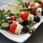 Greek Salad Salad on a Stick