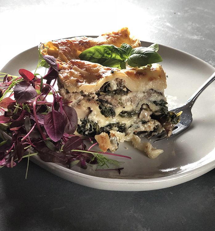 Shiitake Kale Lasagna