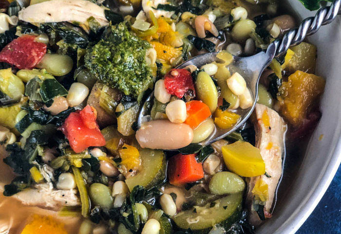 Hearty, Healthy Vegetable Soup with Chicken