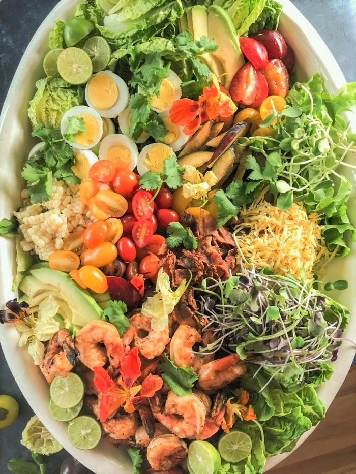 Deconstructed Shrimp Cobb Salad