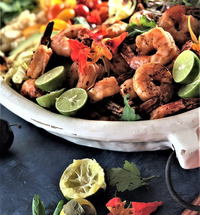 Southwestern Shrimp Cobb